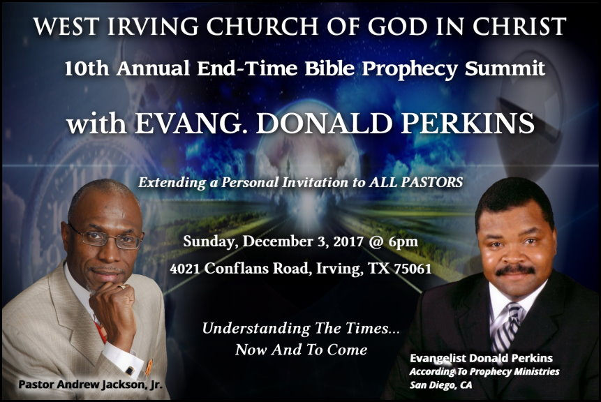 10th Annual West Irving COGIC Bible Prophecy Conference