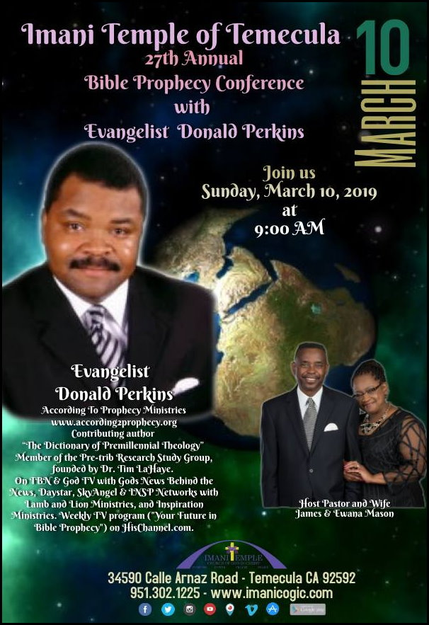 According To Prophecy Ministries Conference Schedules / Imani Temple