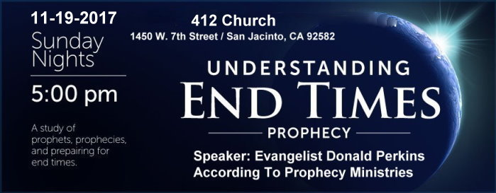 According To Prophecy Ministries Conference Schedules / 412