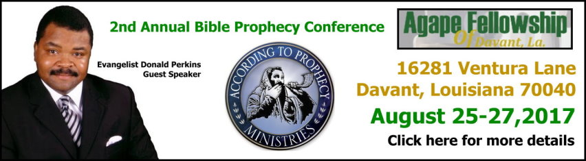 Agape Fellowship Bible Prophecy Conference