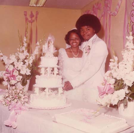 Donald &amp Marie Perkins on their wedding day