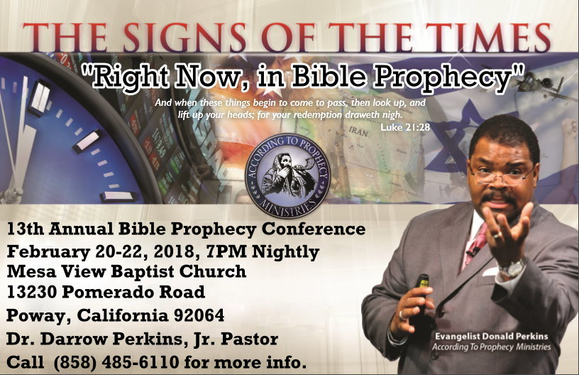 Mesa View Baptist Church Presents Signs of the Times - Right Now, In Bible Prophecy