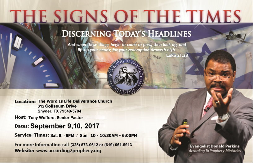 W.I.L.D. Church Bible Prophecy Conference