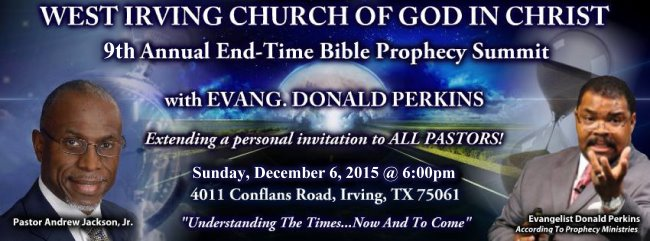8th Annual West Irving COGIC Bible Prophecy Conference